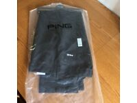 Ping Mens Golf Trousers, Black, new.