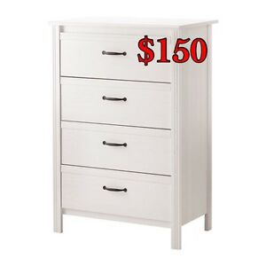 IKEA white chest drawers and storage unit