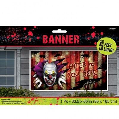 HALLOWEEN Creepy Carnival RIESEN BANNER Grusel Clown Deko