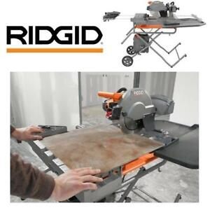 USED* RIDGID 10 WET TILE SAW R4091 245926815 W/ STAND 15 AMP PROFESSIONAL POWER TOOL