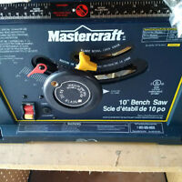"Mastercraft 10"" Bench Saw with Stand - NEW"