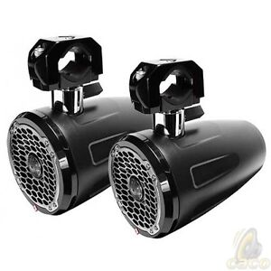 ROCKFORD-FOSGATE-M262B-WAKE-6-5-Wakeboard-Tower-Speaker-Black-Pair-New