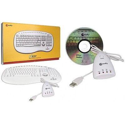 Macally USB Wireless RF Programmable Keyboard With Multimedia Keys