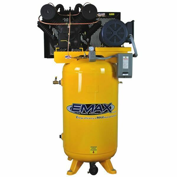 Emax Industrial Plus 10-hp 80-gallon  Two-stage Air Compressor (208/230v 1-ph...