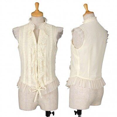GRACE CONTINENTAL Lace design Vest Size 36(K-37385)