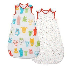 spotty bear twin pack gro bags 0-6 months 1 tog also 18-36 months (new)