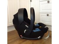 Black Mamas & Papas Cybex Aton car seat fits many prams