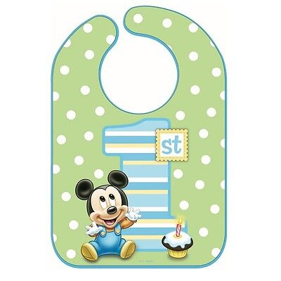 1st Birthday Boy Party Supplies (Disney Mickey Mouse 1st Birthday Bib Baby Boy First Birthday Party Supplies)
