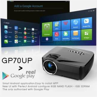 Android WIFI LED Projector Home Cinema Theater Online Movie Game