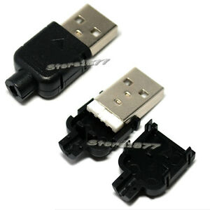 10pcs-Type-A-Male-USB-4-Pin-Plug-Socket-Connector-Plastic-Cover-s526