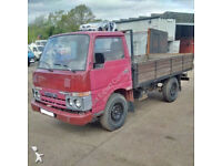 Left hand drive Nissan Cabstar F22 TD25 2.5 diesel pick up truck.