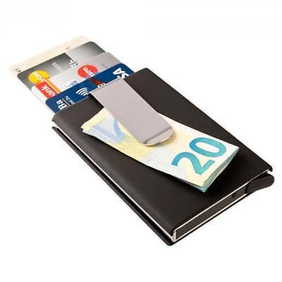Kartenetui mit Geldklammer Kreditkartenetui Geldbörse Alu RFID Schutz kompakt