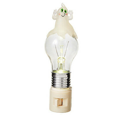 Halloween Ghost on Bulb LED Night Light ](Halloween Night Light Bulbs)