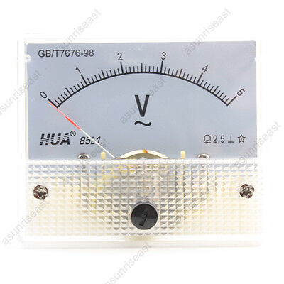 1 Ac5v Analog Panel Volt Voltage Meter Voltmeter Gauge 85l1 Ac0-5v