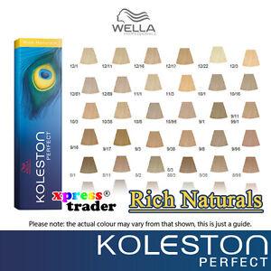 Wella koleston color chart