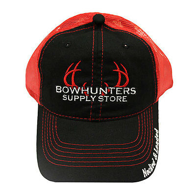 Bowhunters Supply Store Blk/Red Mesh Hat - Supply Store