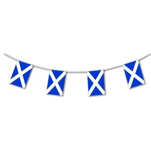 Novelties Direct Scottish / Scotland Bunting 12ft Rectangular PVC Scotland