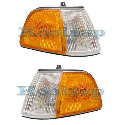 90-91 Civic H-back Park Corner Light Turn Signal Marker Lamp Left Right Set PAIR