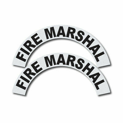 3m Reflective Firerescueems Helmet Crescents Decal Set - Fire Marshal