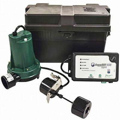 Zoeller 508 - Aquanotreg Spin Battery Backup Sump Pump System 1800 Gph 10