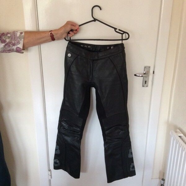 Ladies Leather Motorbike Trousers size 8-10 bike protective gear