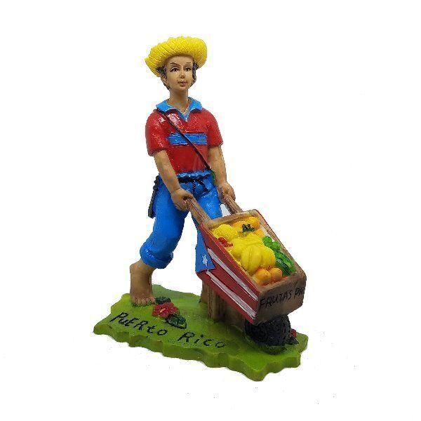 "COLLECTABLE Puerto Rico Jibaro With Fruits Figures 3.25/"" Inchs Rican Boricua"