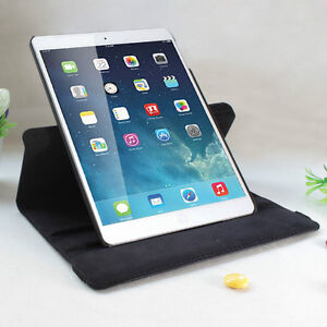 NEW BLACK 360 ROTATING PU LEATHER CASE COVER STAND FOR IPAD AIR Regina Regina Area image 3