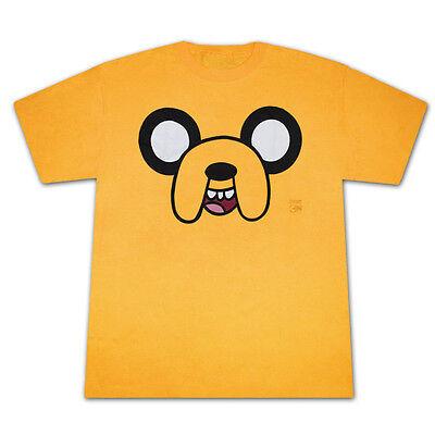 Adventure Time Finn & Jake: JAKE FACE Mens Costume Licensed T-Shirt XL-2XL (Finn Jake Costume)