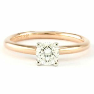 14k Rose Gold Solitaire Diamond Engagement Ring (0.50ct.) 3624