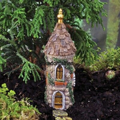 Miniature  Micro Castle Tower GO 17419  Fairy Garden Dollhouse Terrarium