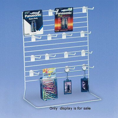 Peg Countertop Display 8 W X 6 D X 11 H Inches With 9 Peg Hooks