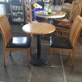 Round bistro table and 2 Chairs
