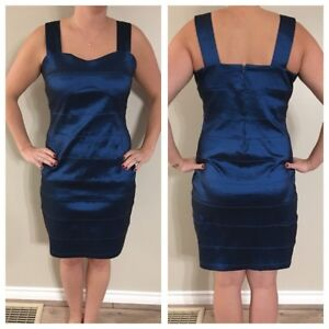 Metallic Blue Dress