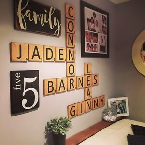 Gallery Wall Decor - Wooden Sign - Scrabble Letters - Home Decor Peterborough Peterborough Area image 1