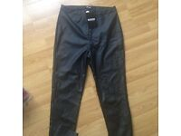 Nwt faux leather trousers, size 10