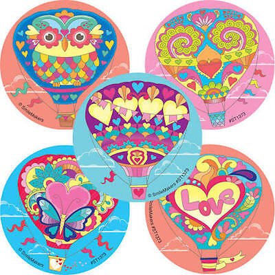 25 Decorative Hot Air Balloon Stickers Party Favors Teacher Supply Festival