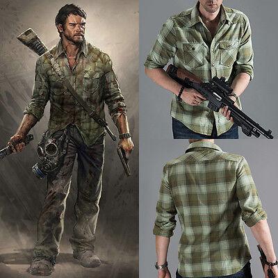 The Last of Us Joel Cosplay Kostüm Costume Herren Grün Shirt Hemd PS4 Game - Last Of Us Kostüm