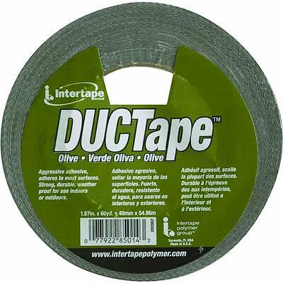 1.87x60yd Olv Duct Tape Intertapepolymer 20c-od2 Watertear Resistant 24roll Pk