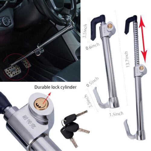 Universal Steering Wheel Pedal Lock Antitheft Hook Extendable Car Steel Security