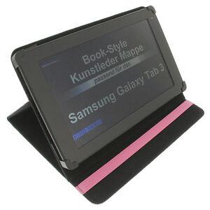Funda-para-Samsung-Galaxy-Tab-3-10-1-Book-Style-Tableta-Protectora-Soporte-Rosa