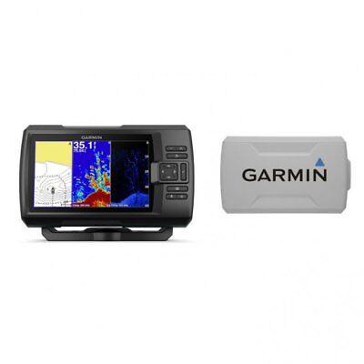 Garmin STRIKER Plus 7cv Fishfinder with CV20-TM Transducer and Protective Cover