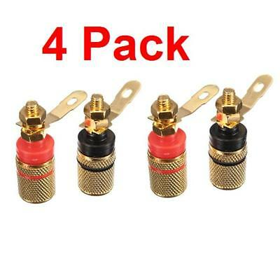 Amplifier Connectors (4mm Gold Plated Amplifier Speaker Terminal Binding Post Banana Plug)