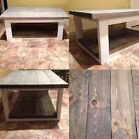 MUST GO! Two-Toned Rustic Coffee Table