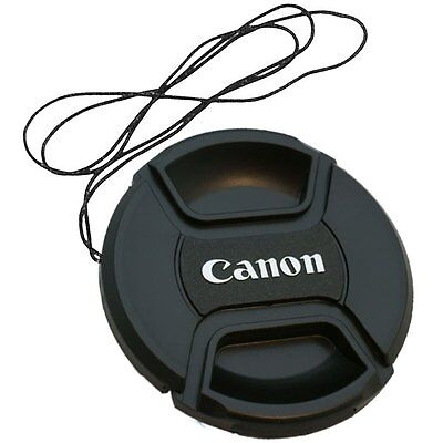 62mm Snap on Center Pinch lens Cap Dust Cover Protector For Canon New