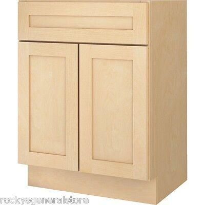 Bathroom Vanity Base Cabinet Natural Maple Shaker 18