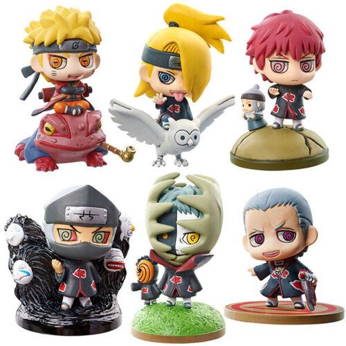 """Naruto & Akatsuki 6 pcs 2"""" Hight Mini Figures Set Cake Toppers Party Toys Gift"""