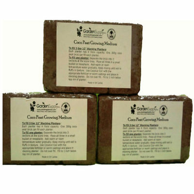 - Coconut Coir Peat Growing Medium Bricks Organic Soilless Potting Soil Garden (9)
