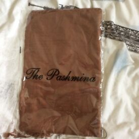 Brown pashmina
