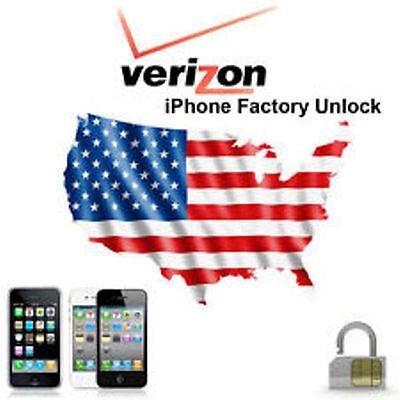 VERIZON Unlock Service Code iPhone 4 5 5C 5S 6 6+ 7 7+ 8 8+ ipad FAST GUARANTEED