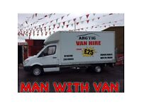 Man with Van or Van Hire from £25p/h in N.Lanarkshire!! **ARCTIC COMMERCIALS**
